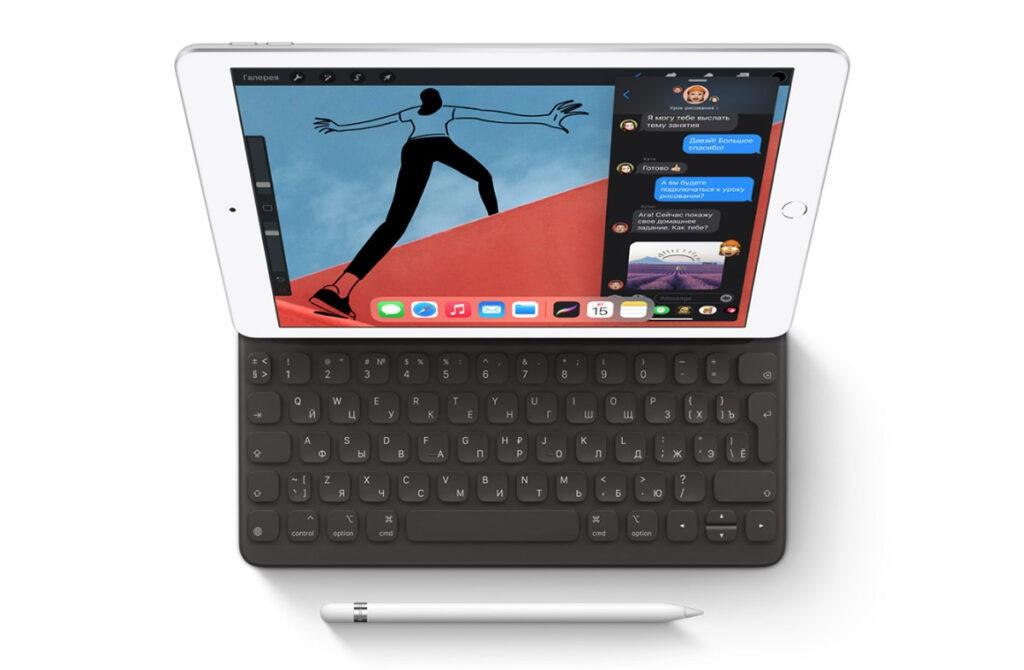 Apple iPad 8 с клавиатурой и стилусом Apple Pencil 1
