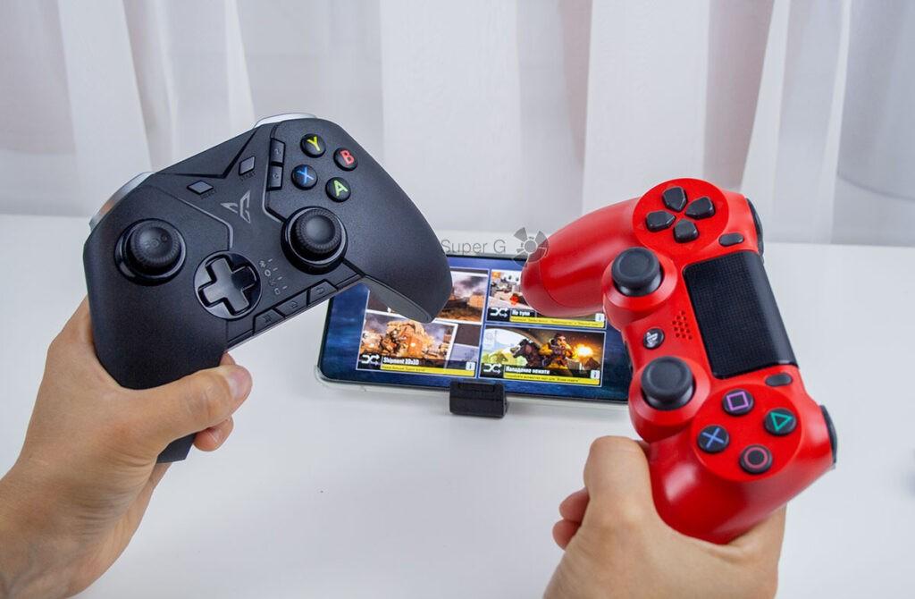 Сравнение контроллеров FlyDigi Apex и Dualshock 4