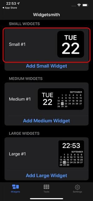 Как создать виджет в Widgetsmith