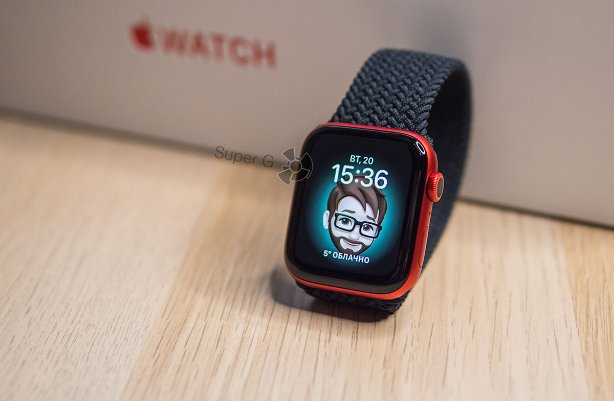 Apple Watch Series 6 циферблат Mimoji