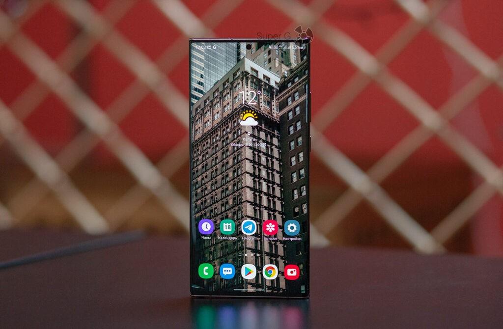 Безрамочный экран Samsung Note 20 Ultra