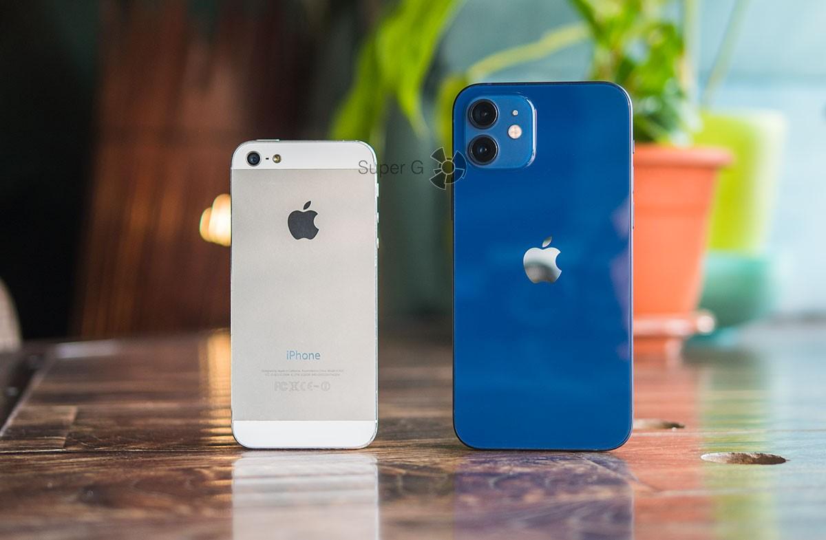 Сравнение iPhone 12 iPhone 5
