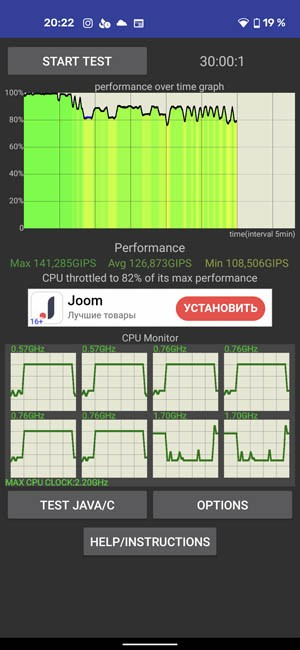 CPU Throttling Pixel 4A