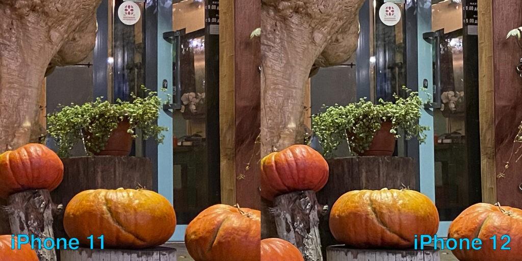 Сравнение камер iPhone 12 и 11 ночью