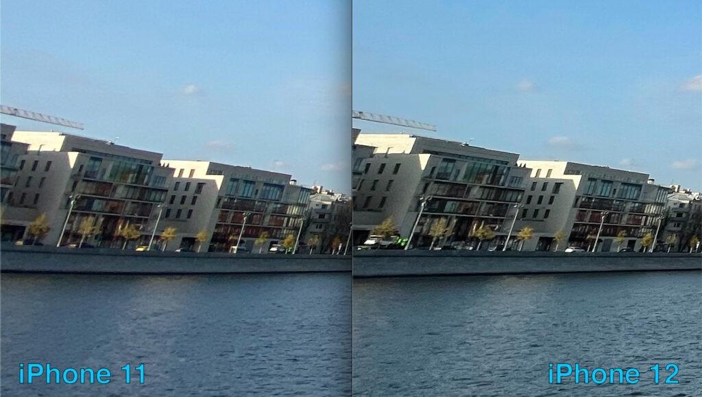 Сравнение широкоугольных камер iPhone 12 и 11 (искажения)