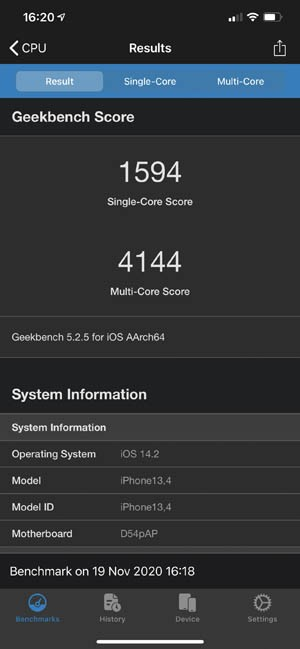 Geekbench 5 iPhone 12 Pro Max