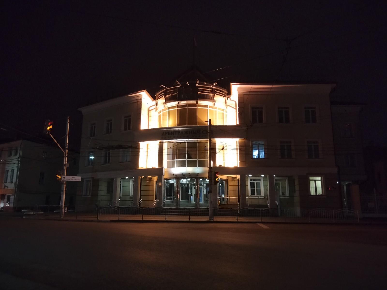 Ночной снимок, снятый на автомате на камеру OPPO A53