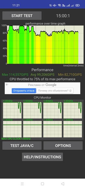 OPPO A53 CPU Throttling