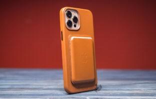 Кожаный чехол и кошелек для iPhone 12 Pro Max
