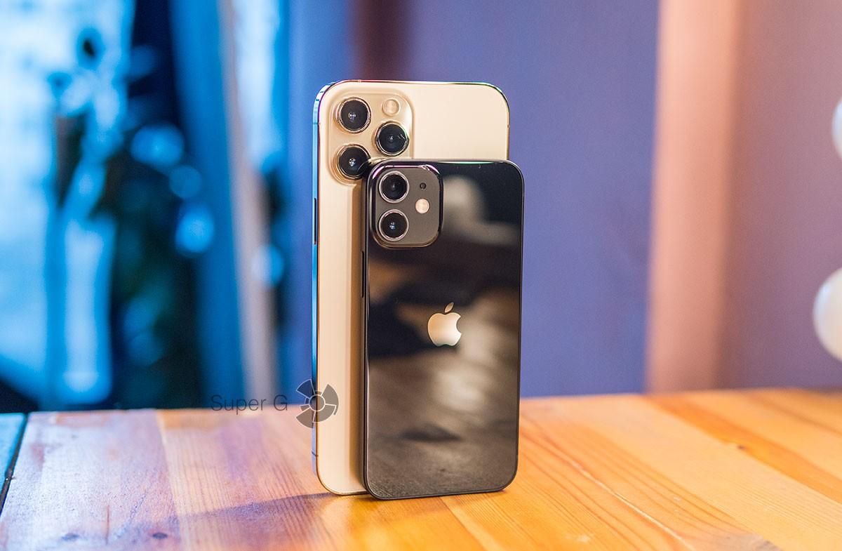 Размеры iPhone 12 mini и 12 Pro Max