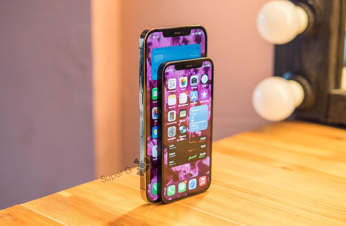 Сравнение iPhone 12 mini с 12 Pro Max