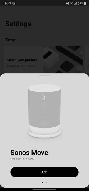 Подключение Sonos Move
