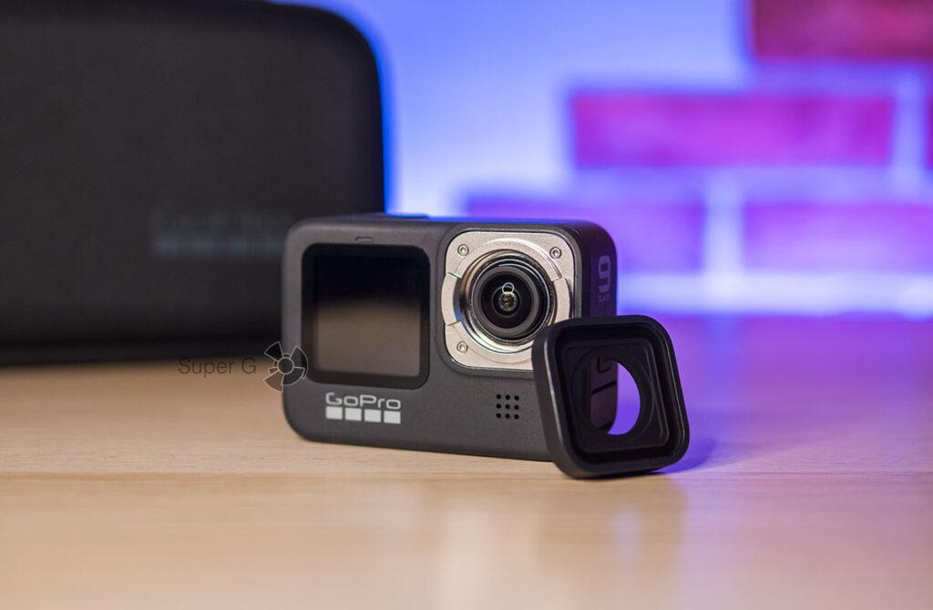 GoPro HERO 9 Black как снять стекло объектив