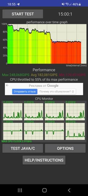 Samsung Galaxy S21 CPU Throttling