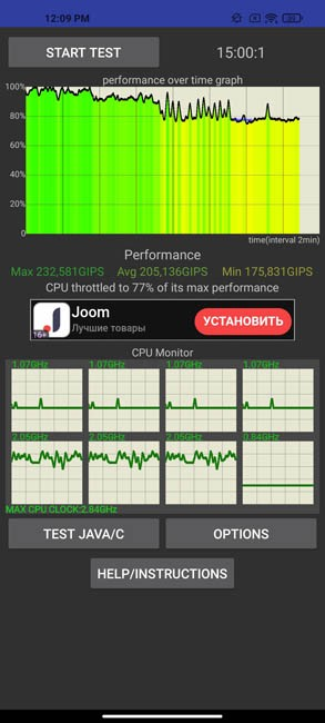 Xiaomi Mi 10T Pro CPU Throtling