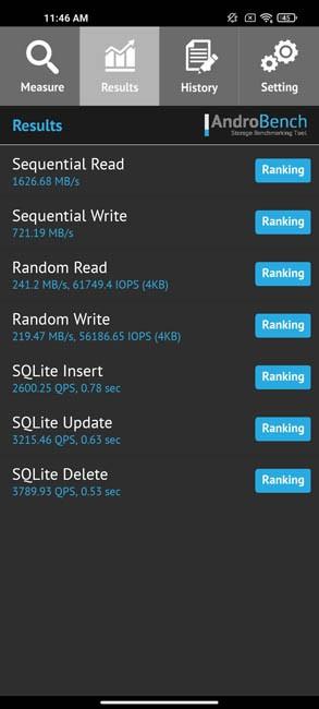 Xiaomi Mi 10T Pro тест скорости памяти