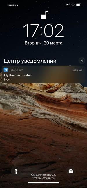Отключить уведомления с заблокированного экрана iPhone