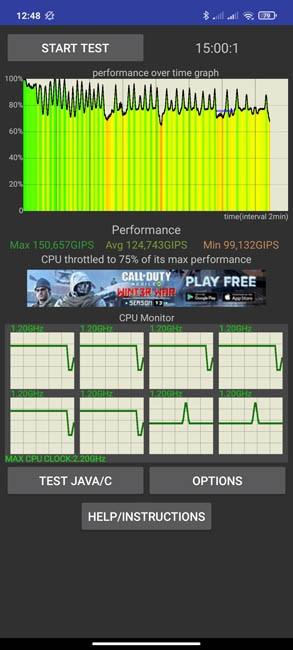 Redmi Note 10 CPU Throttling Test (2)