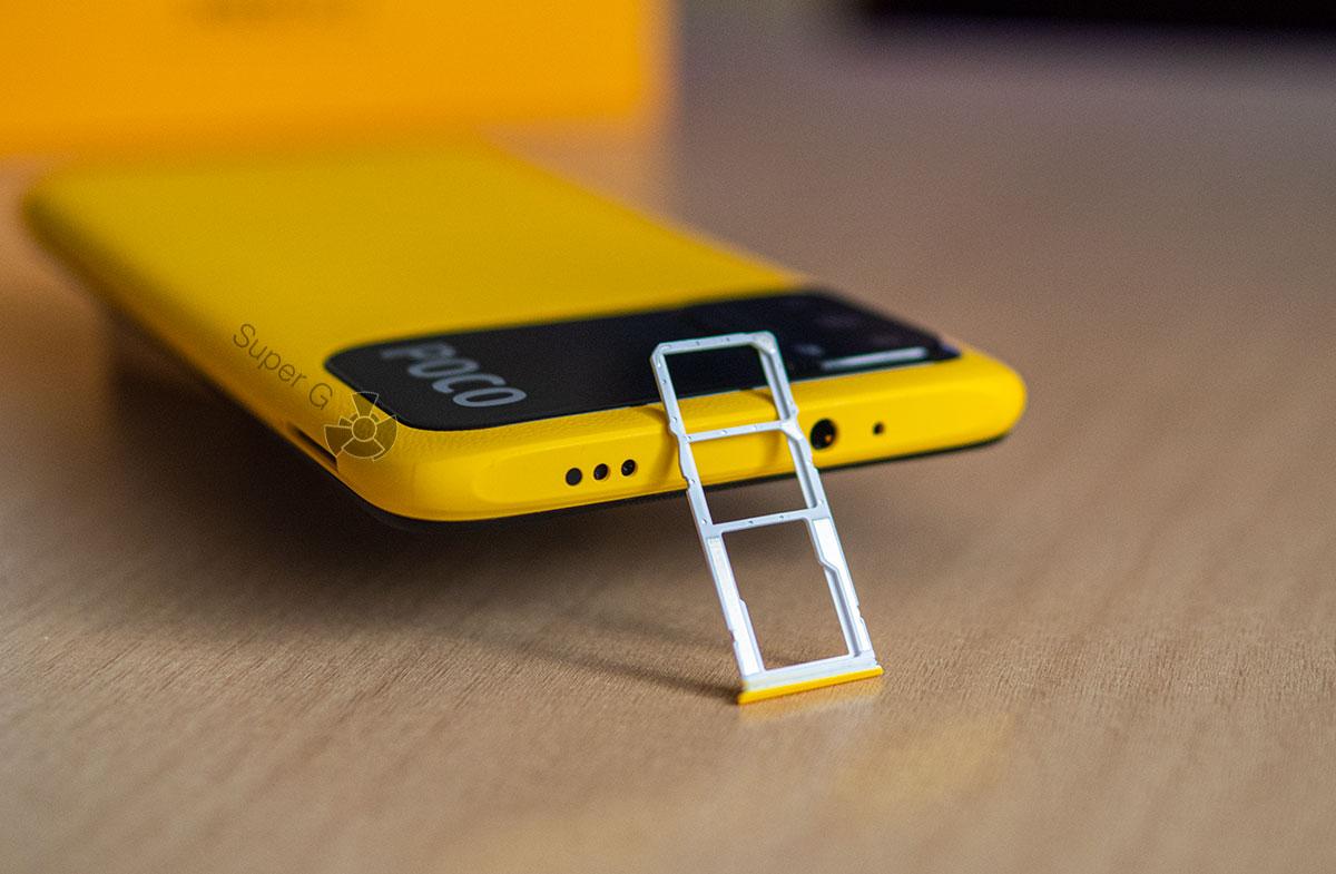 POCO M3 лоток для SIM-карт c независимым слотом для карты памяти Micro SD