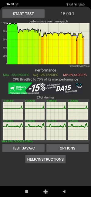 Poco M3 CPU Throttling