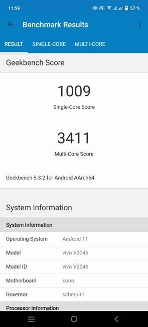 Vivo X60 Pro Geekbench 5