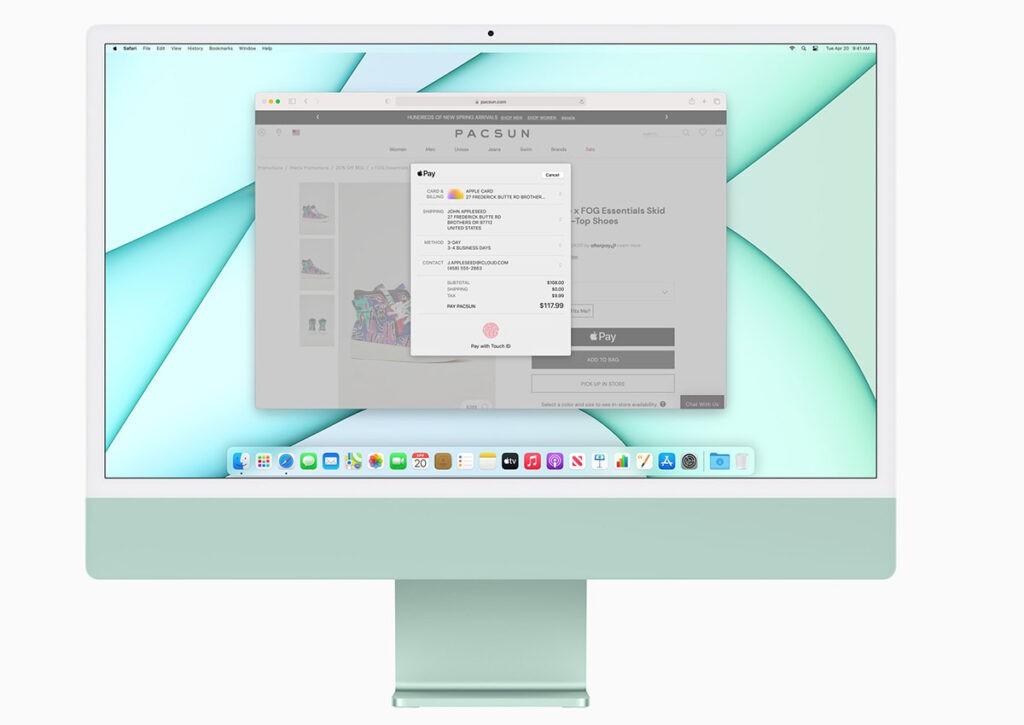 iMac 24 2021 экран