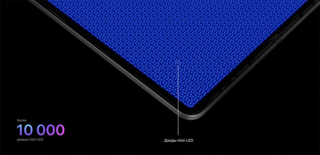 Как работает технология mini-LED iPad Pro