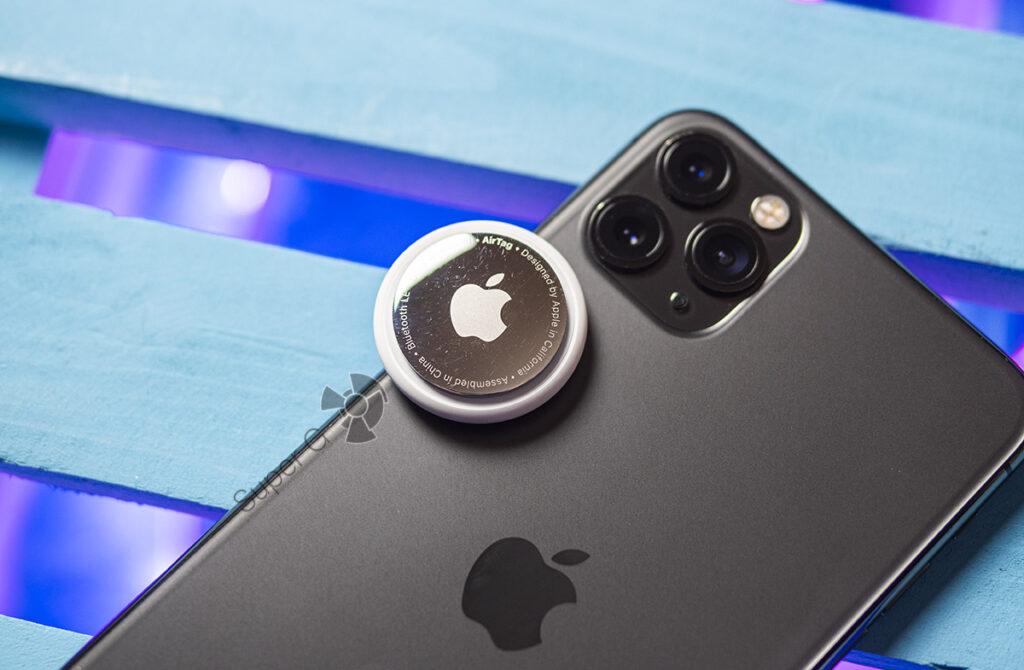 Apple AirTag и iPhone 11 Pro Max