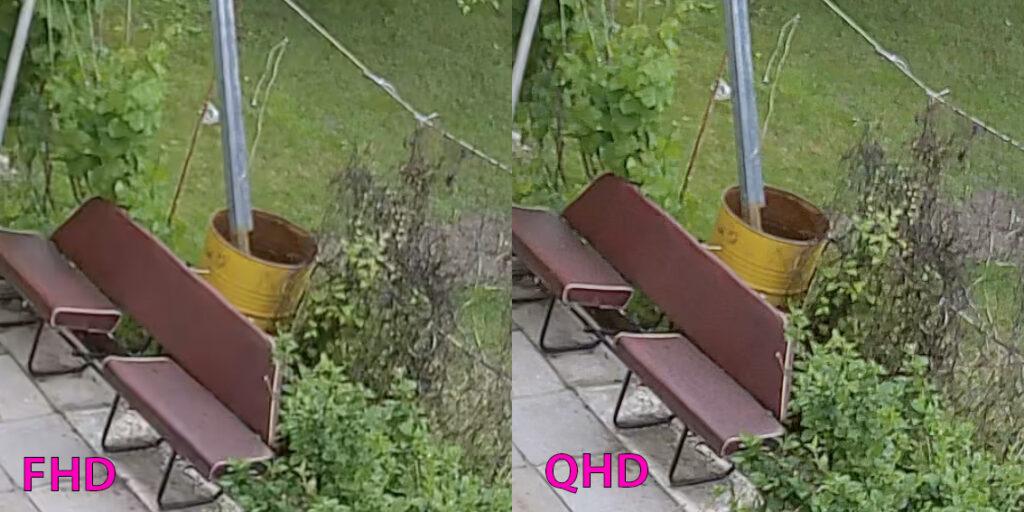 Сравнение качества FHD и QHD видео Ezviz