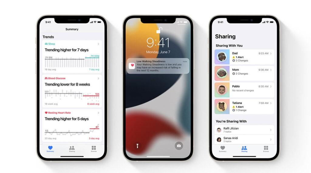 Здоровье в iOS 15