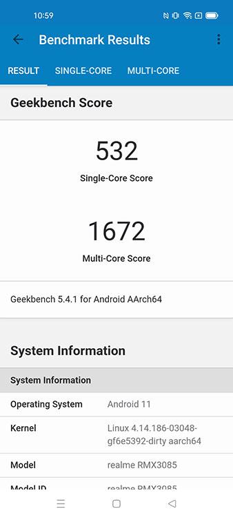 Realme 8 Geekbench 5