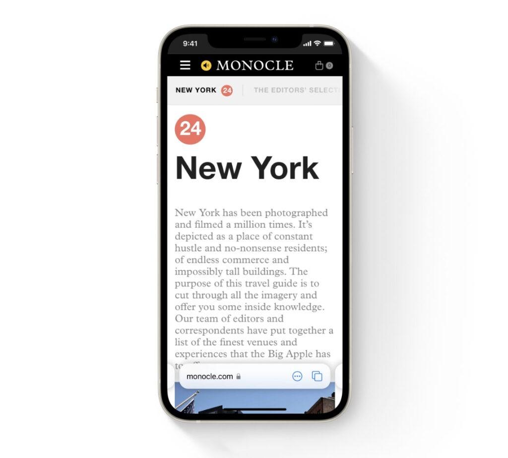 Safari iOS 15