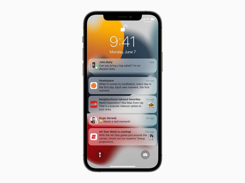 iOS15 Уведомления