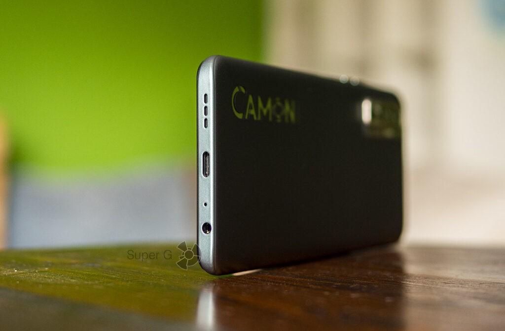 USB-C разъём и аккумулятор Tecno Camon 17P
