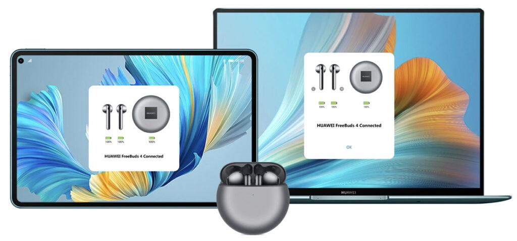 FreeBuds 4 подключение к компьютеру или планшету HUAWEI