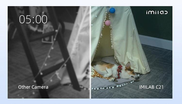 IMILAB C21 качество ночной съёмки