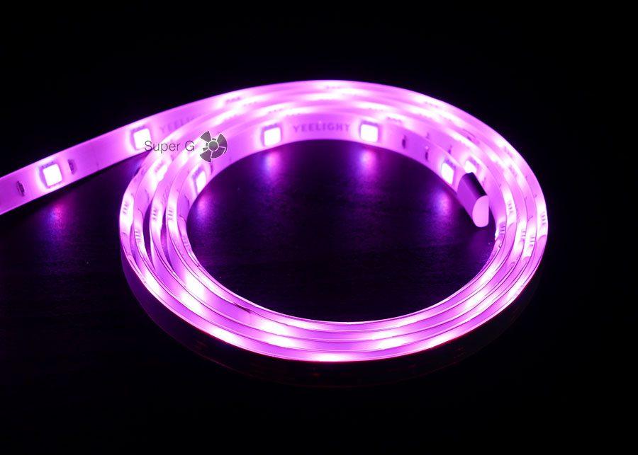 Максимальная яркость Xiaomi Yeelight Lightstrip (розовый цвет)