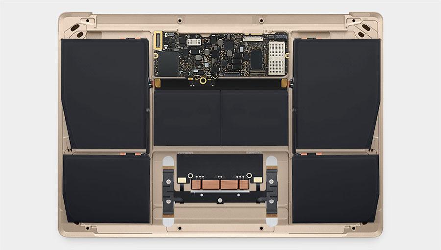 Внутренности нового MacBook 2015