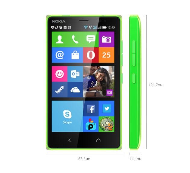 Габариты Nokia X2