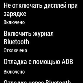 Настройки разработчиков