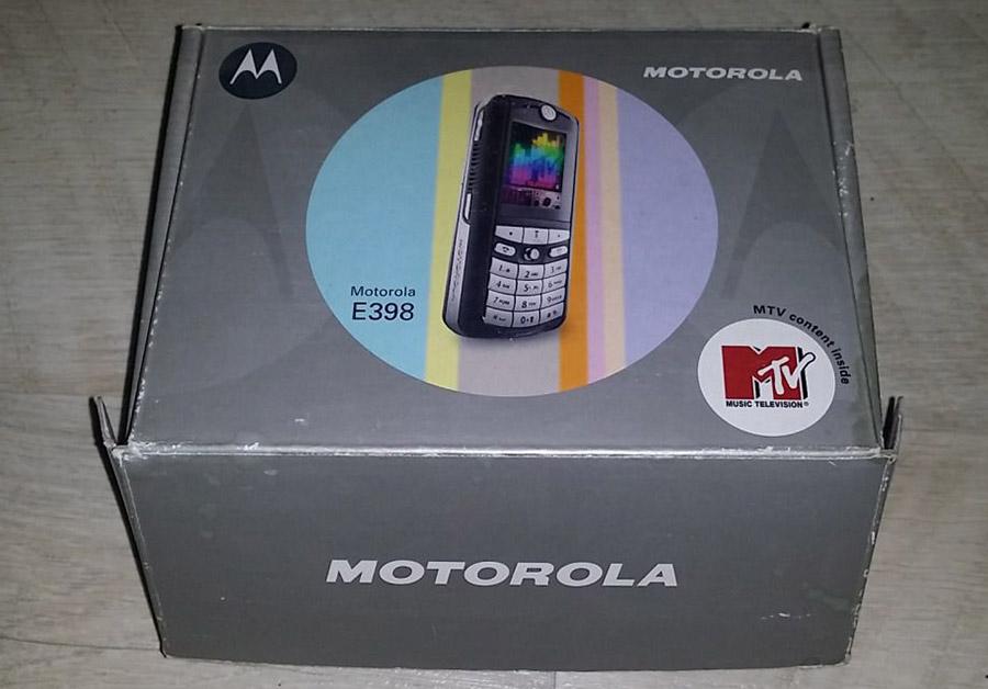 Коробка Motorola E398