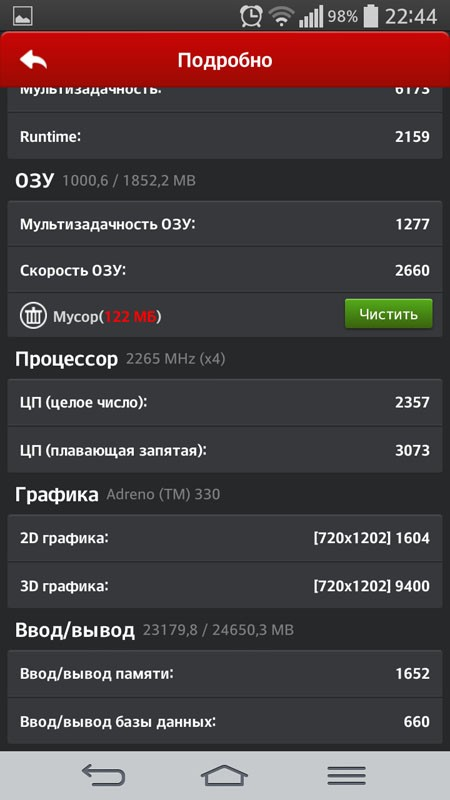 AnTuTu - очки графики