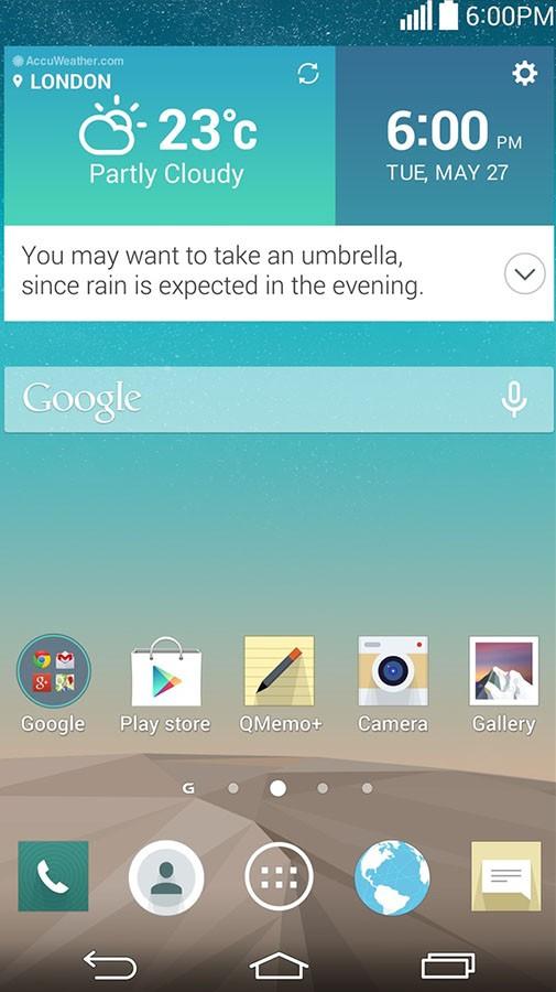 Интерфейс LG G3