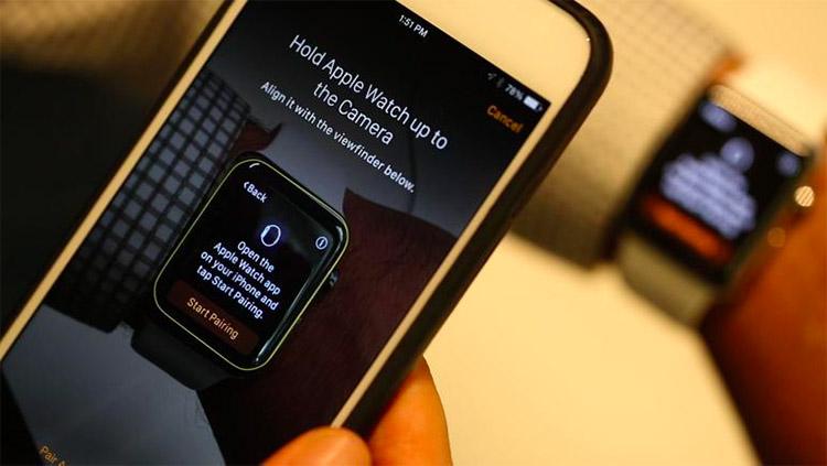 Сканирование дисплея Apple Watch при помощи iPhone