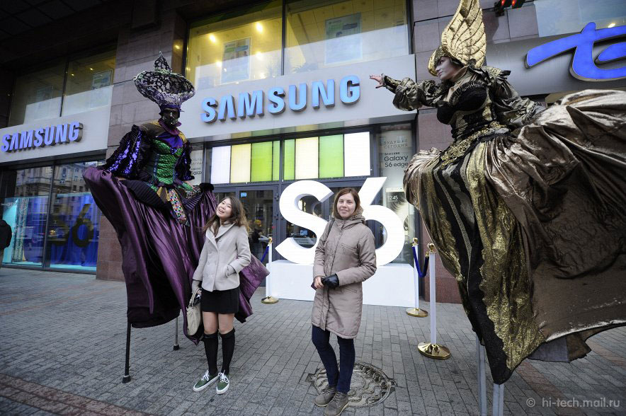 Старт продаж Samsung Galaxy S6 в Москве