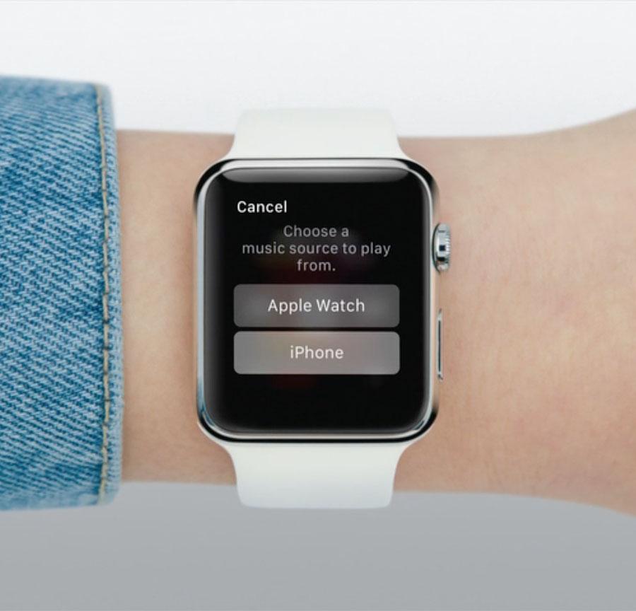 Выбираем источник звука - Apple Watch