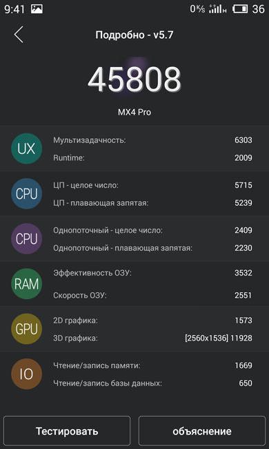 AnTuTu (счет) Meizu MX4 Pro