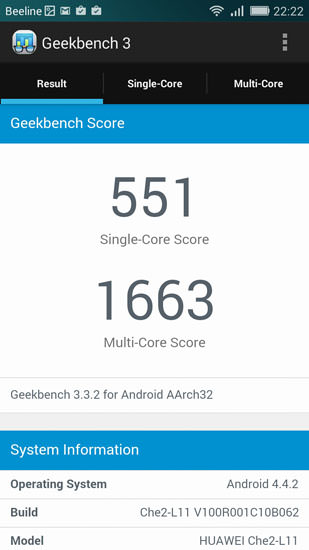 Geekbench 3 и Huawei Honor 4X