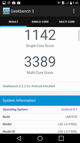 Geekbench 3 LG G4