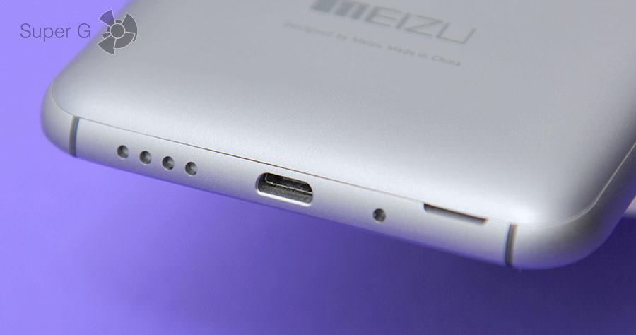 Нижний торец Meizu MX4 Pro